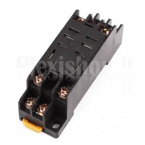 Zoccolo PYF08A DIN compatibile con relay industriali HH52P