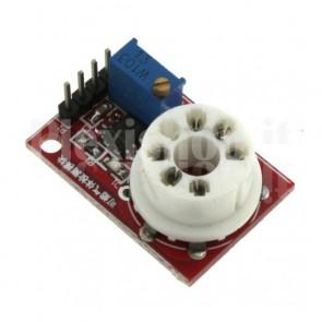 Zoccolo universale per sensori gas di tipo MQ 2/3/4/5/6 e 7