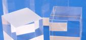Cubetti trasparenti in plexiglass