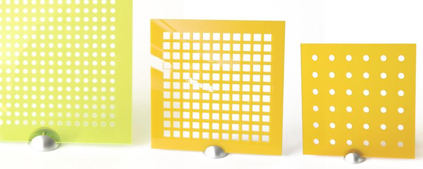 Laser drilled Plexiglass